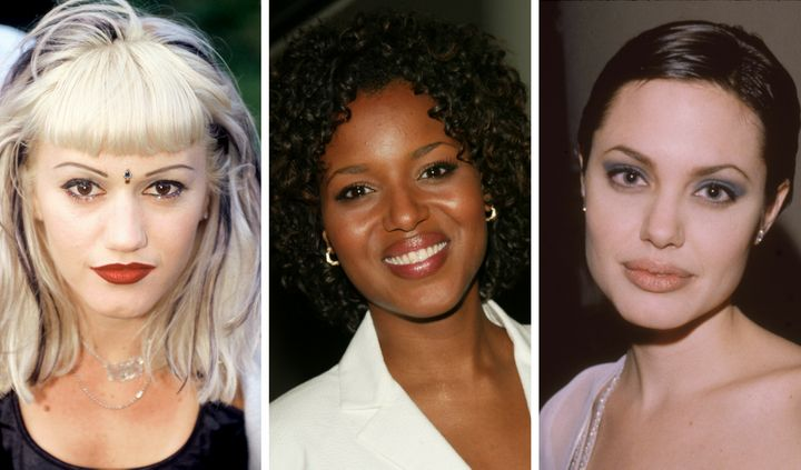 Gwen Stefani, Kerry Washington and Angelina Jolie in the '90s -- it was a different time for brows.