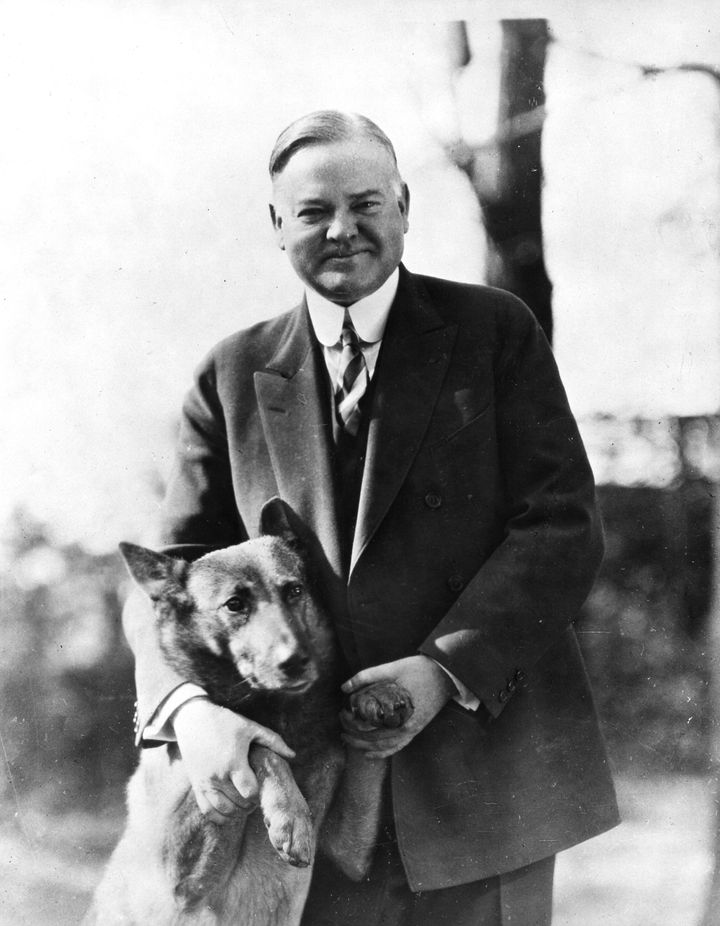 Hoover with King Tut in the 1930s.