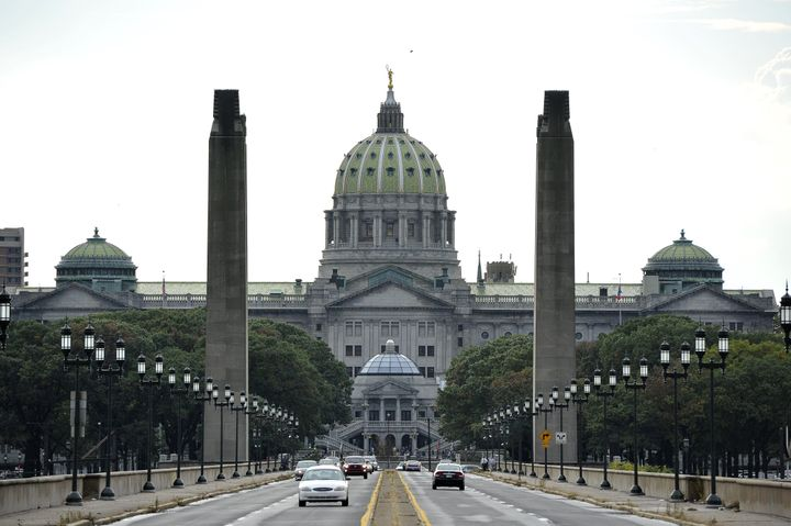 This 2011 file photo shows the state Capitol in Pennsylvania.