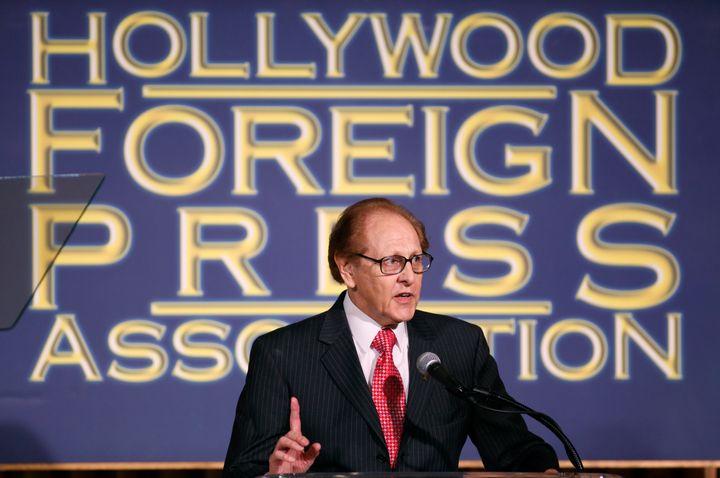The former Hollywood Foreign Press Association president Philip Berk speaks atluncheon in 2009.