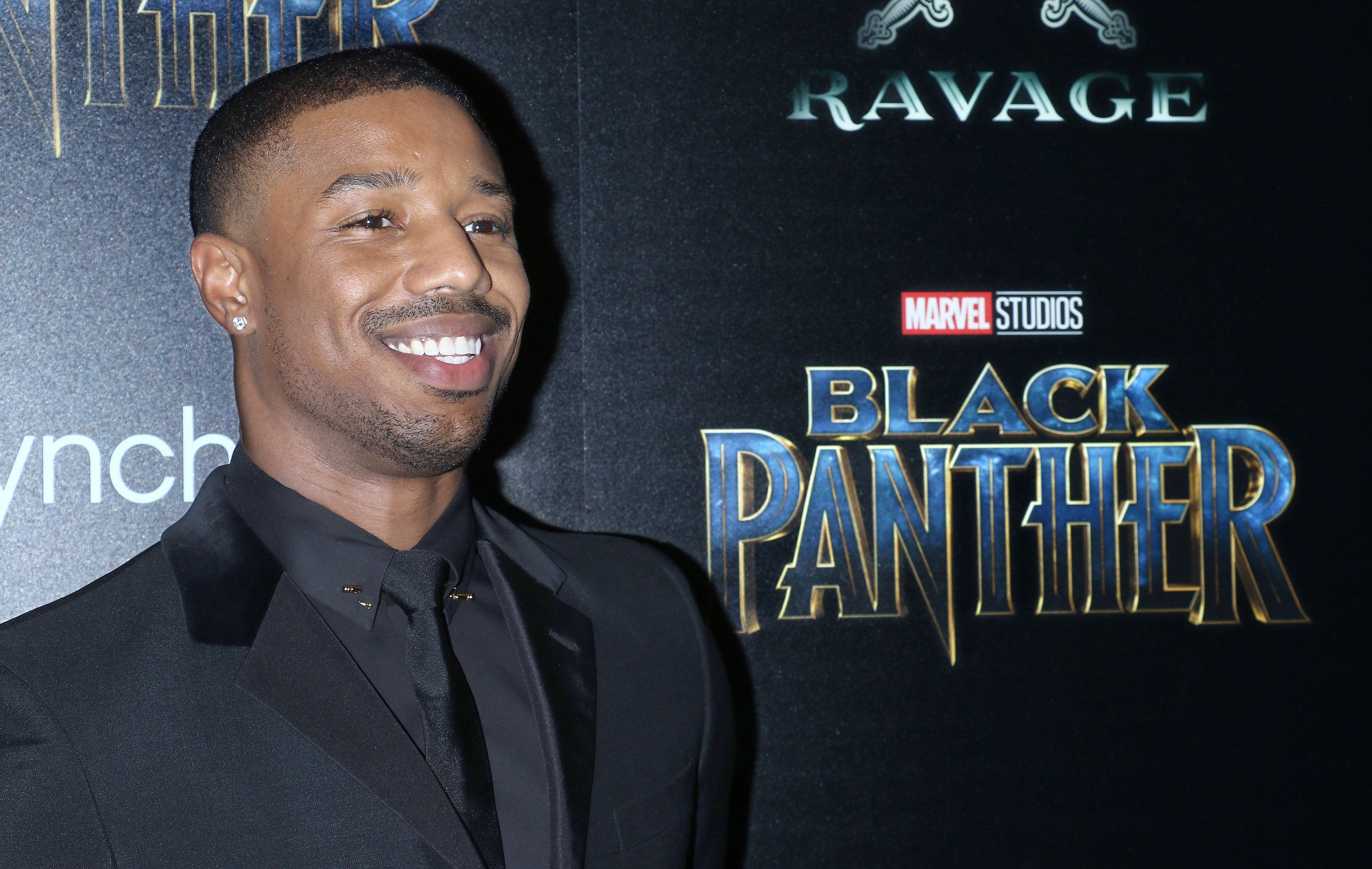 NEW YORK, NY - FEBRUARY 13:  Actor Michael B. Jordan attends the screening of Marvel Studios' 'Black Panther' hosted by The Cinema Society with Ravage Wines and Synchrony at Museum of Modern Art on February 13, 2018 in New York City.  (Photo by Jim Spellman/WireImage)