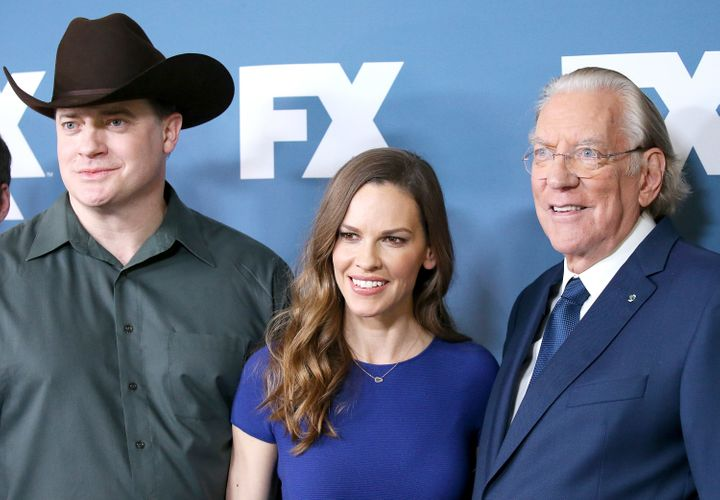 Brendan Fraser, Hilary Swank and Donald Sutherland attend the 2018 Winter TCA Tour.
