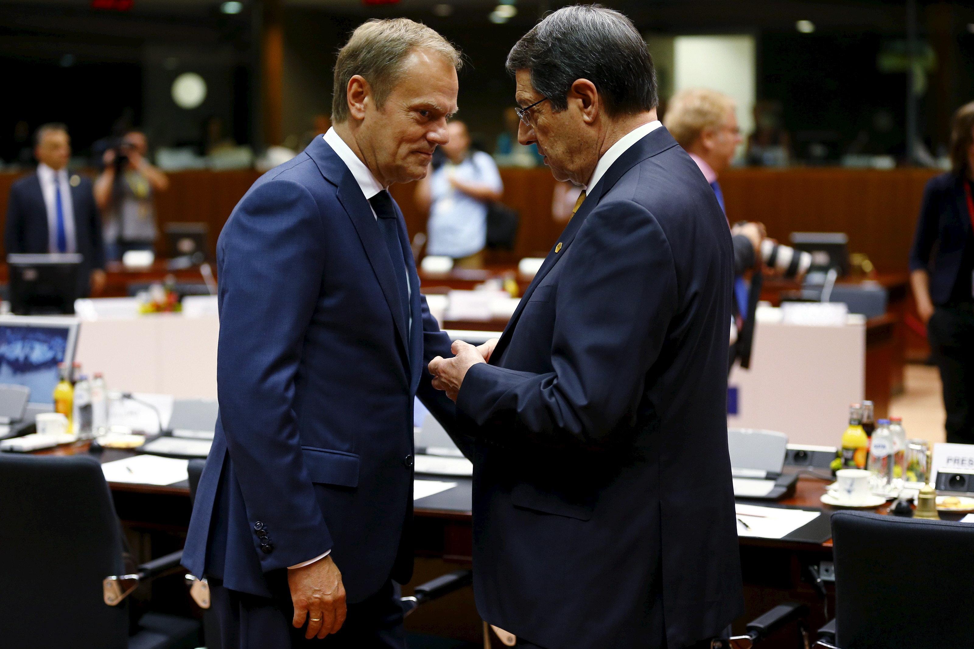 Τουσκ σε Αναστασιάδη: Η ΕΕ πρέπει να αντιδράσει στις τουρκικές ενέργειες στην κυπριακή