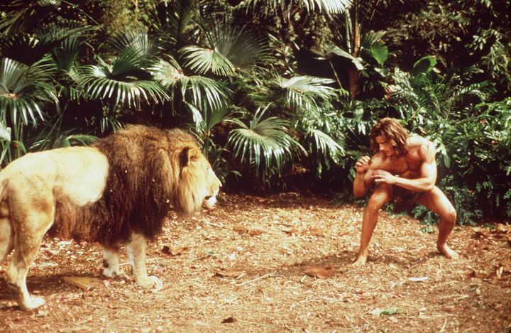 """Brendan Fraser in the movie """"George of the Jungle."""""""