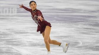 Mirai Nagasu of United States  competing in  free dance at Gangneung Ice Arena , Gangneung,  South Korea on February 21, 2018. (Photo by Ulrik Pedersen/NurPhoto via Getty Images)