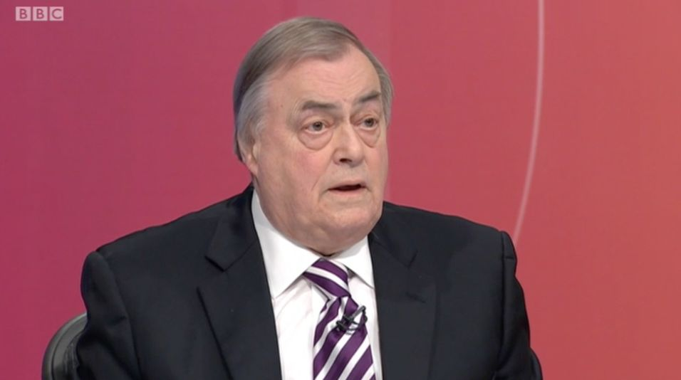 John Prescott Brands Corbyn 'Communist Agent' Claim 'Dirtiest Slur' Ever Heard In Fierce 'Question Time'