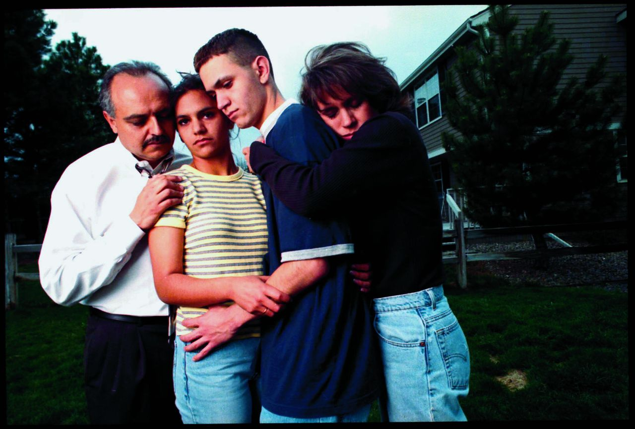 """Zachary Cartaya took this photograph with his family soon after surviving the Columbine attack in 1999. He says he is """"so proud"""" of the Stoneman Douglas students."""