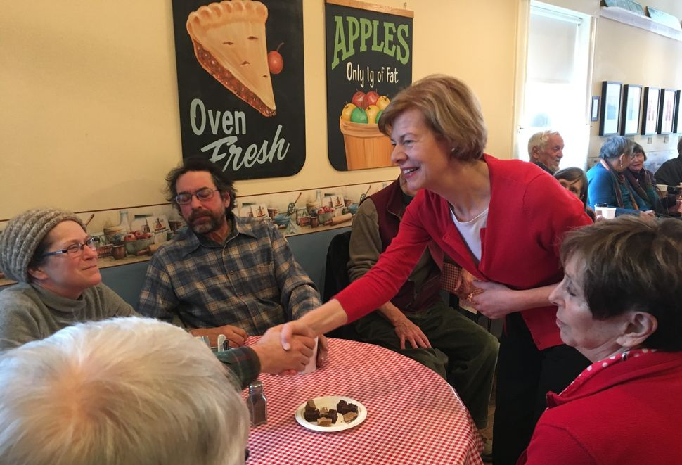Sen. Tammy Baldwin (D-Wis.) met with Pepin County Democrats atStockholm Pie and General Store.