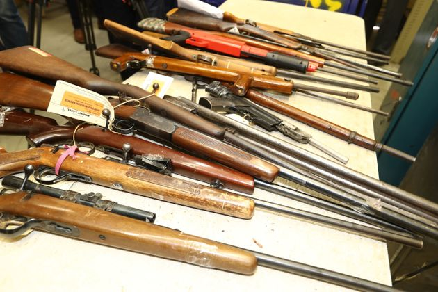 Weapons surrendered to Australian authorities during a 2017 gun amnesty