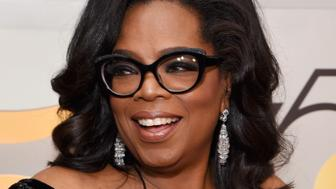 BEVERLY HILLS, CA - JANUARY 07:  Oprah Winfrey celebrates The 75th Annual Golden Globe Awards with Moet & Chandon at The Beverly Hilton Hotel on January 7, 2018 in Beverly Hills, California.  (Photo by Michael Kovac/Getty Images for Moet & Chandon)