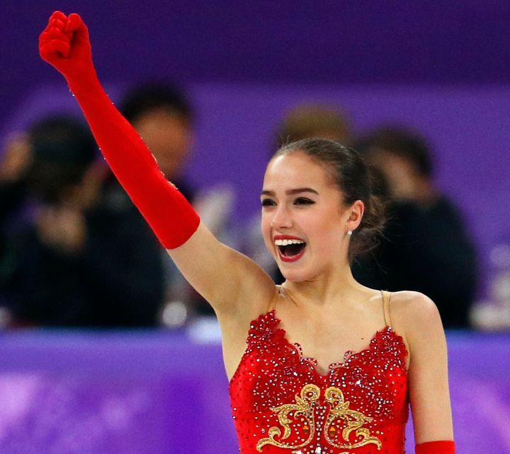 Alina Zagitova's triumph in free skate helped the Olympic Athletes from Russia earn their first gold medal at the Pyeongchang