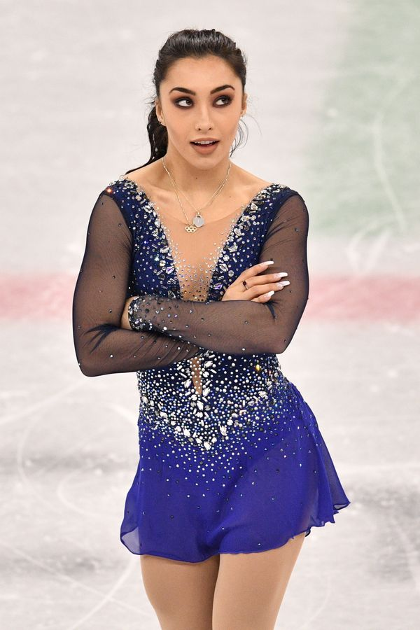 The Canadian skater's sparkly blue number, which she wore for her free skate during the single and team events, really was st