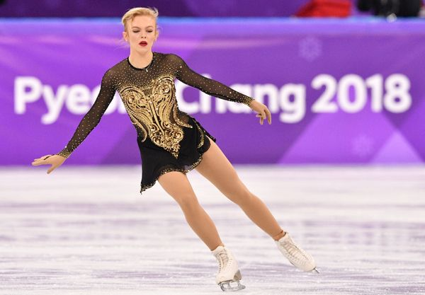 The Finnish athlete pulled out all the stops with this gorgeous, glittering costume, which she wore for her short program dur