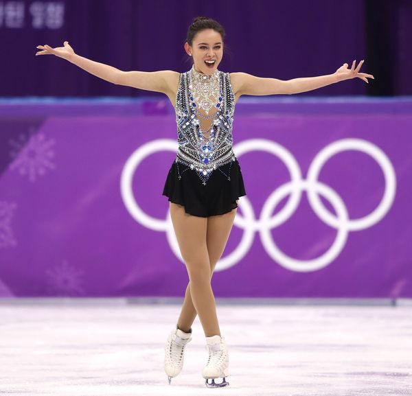 Craine, of Australia, kind of took sparkle to a new level with this costume, which she wore for her free skate during the lad