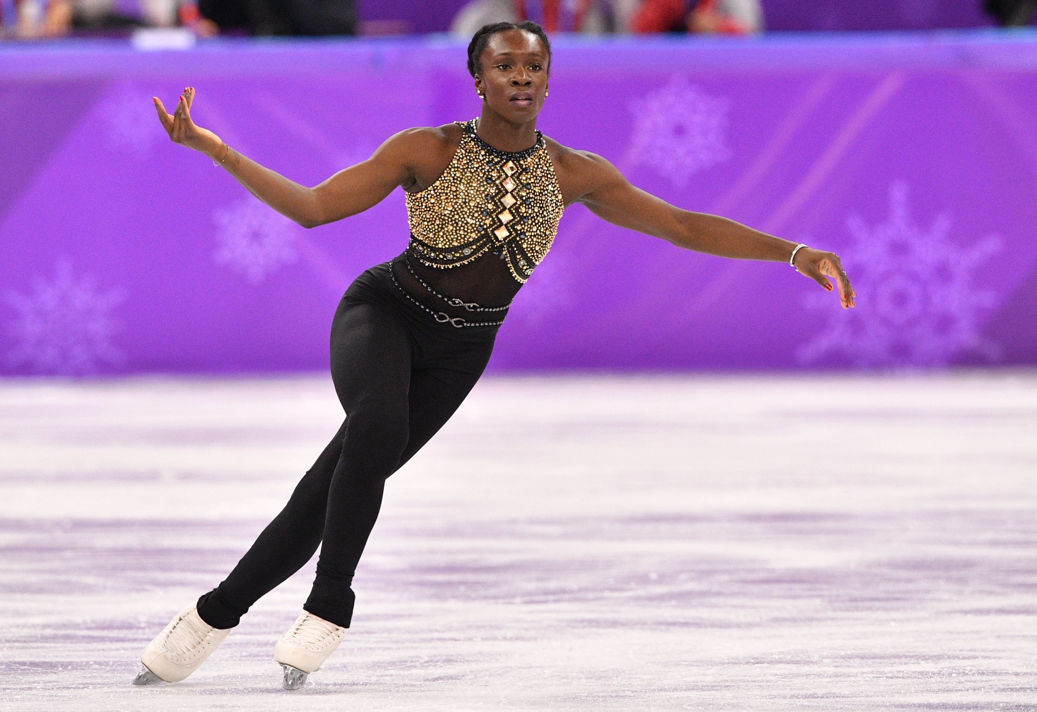 France's Meite wore this unitardto perform her short program (in both the team andwomen's single events) to a med
