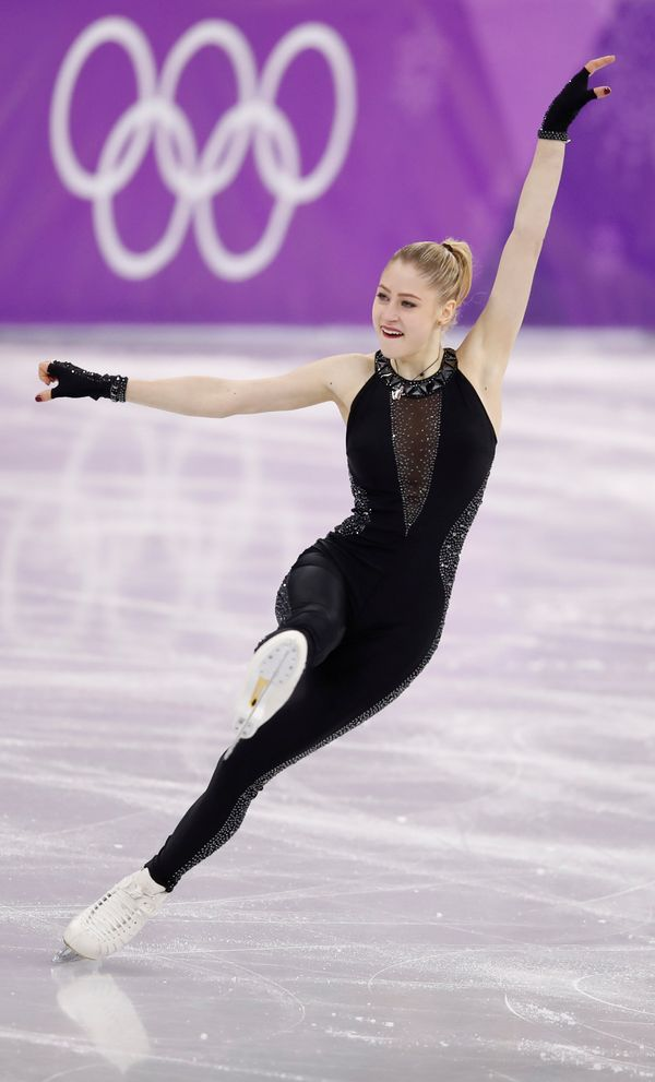 Nikitina, of Latvia, was another woman who chose a unitard, and hers was definitely the most subtle. We think it worked in he