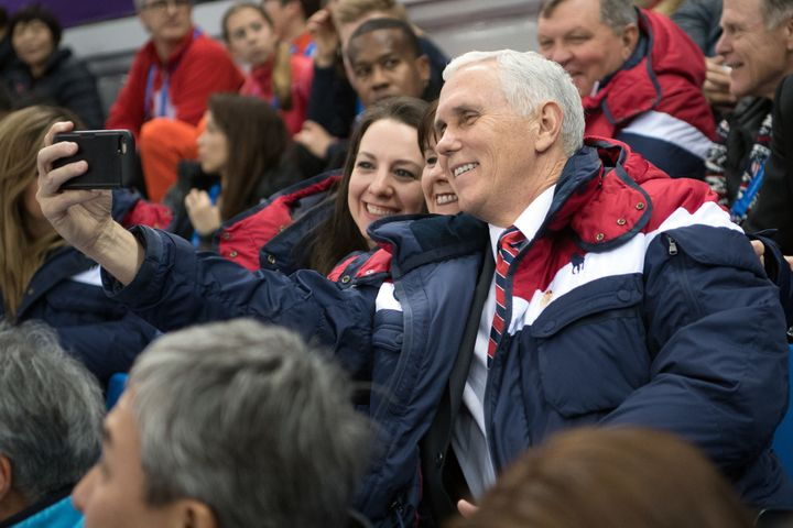 Vice President Mike Pence led the U.S. delegation at the opening ceremony to the Winter Olympics in Pyeongchang, South Korea.