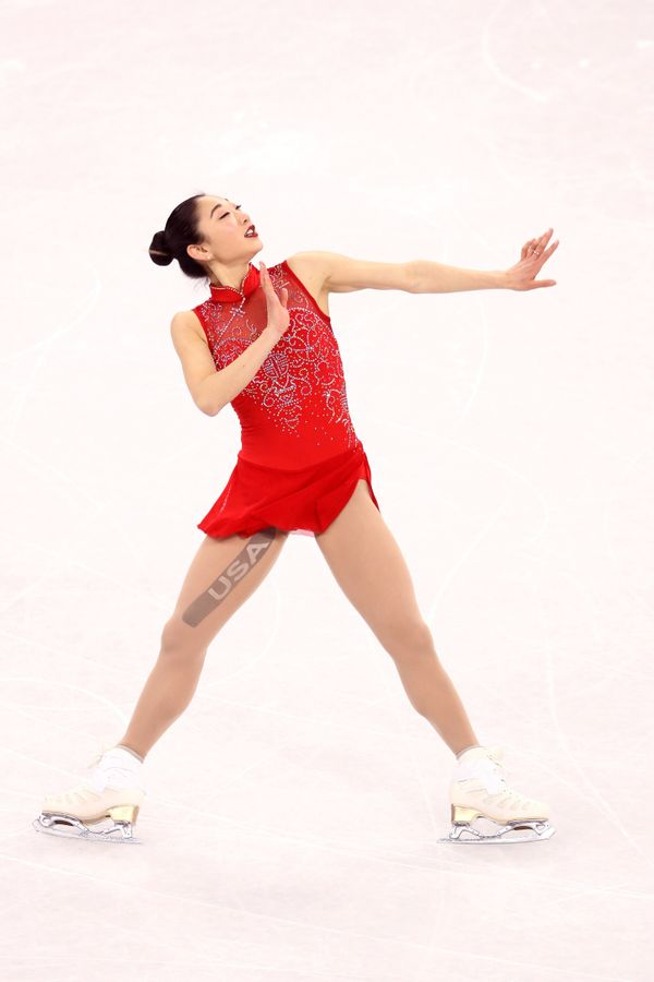 Nagasu, of the U.S., wore this costume for her free skate in thewomen's single event, and earlier atthe team even