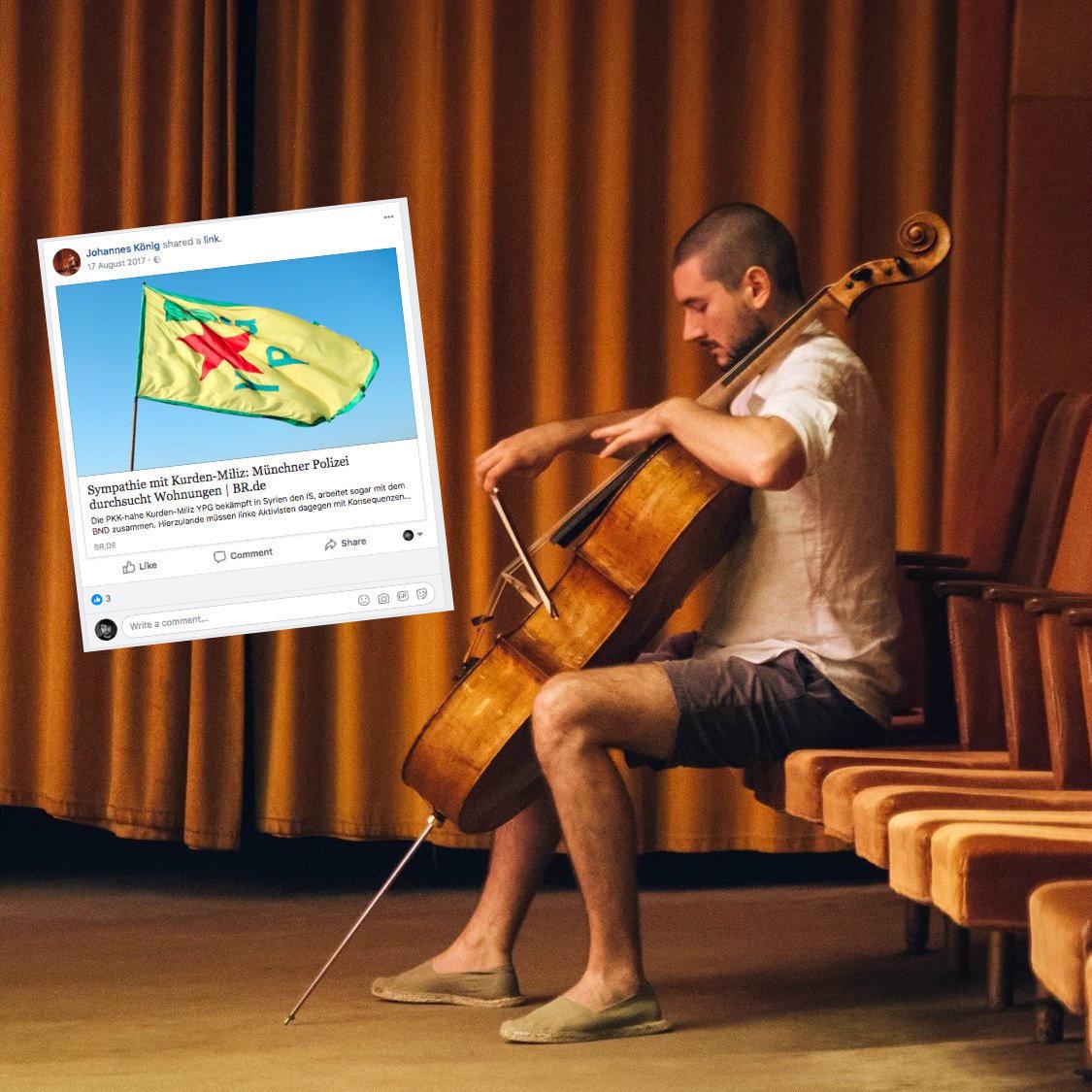 Münchner Polizei ermittelt gegen Musiker – weil er einen Artikel des Bayerischen Rundfunks teilte