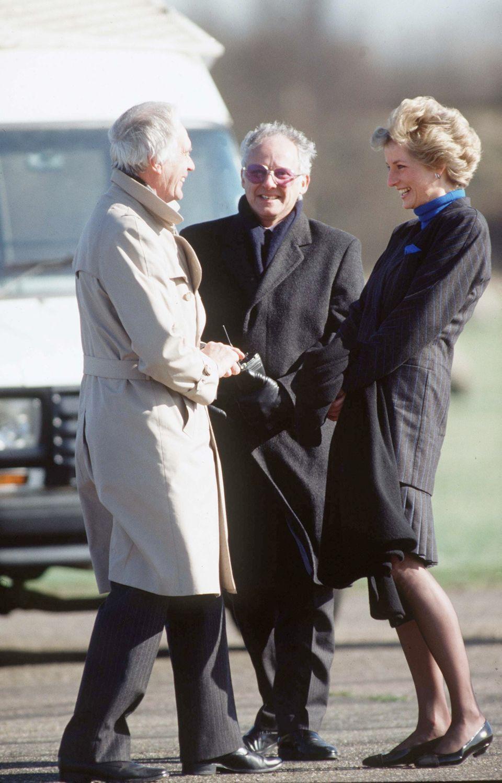 Former royal press secretary Dickie Arbiter (centre) with Princess