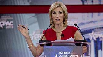 Radio Host Laura Ingraham speaks at the Conservative Political Action Conference (CPAC) in National Harbor, Maryland, U.S., on Friday, Feb. 23, 2018. The list of speakers at CPAC includes two European nativists who are addressing the gathering between panels and events on the dangers of immigration, Sharia law and lawless government agencies. Photographer: Andrew Harrer/Bloomberg via Getty Images