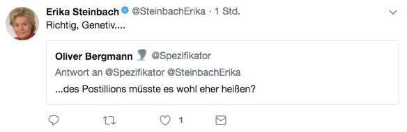 Steinbach fällt auf Satire herein – doch das scheint sie nicht zu