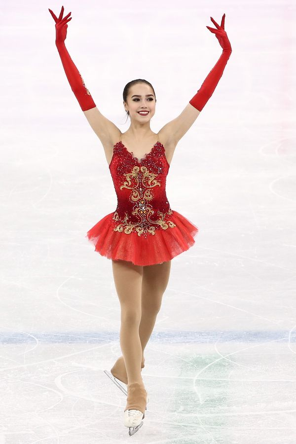 The Russian athlete took home the gold for ladies figure skating, and she definitely deserved it. Not only was her skating ph