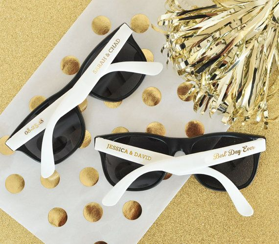 """Get a set of 24 for $36 <a href=""""https://www.etsy.com/listing/263992009/wedding-sunglasses-24-personalized?ga_order=most_rele"""