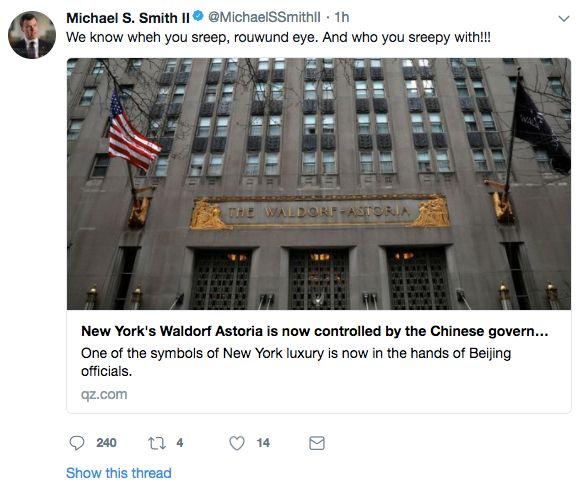 Michael Smith's since-deleted tweet.