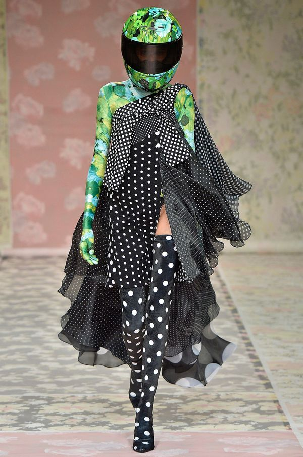 """Richard Quinngave us his version of """"biker chic"""" during London Fashion Week. The best part about his show, though, was"""