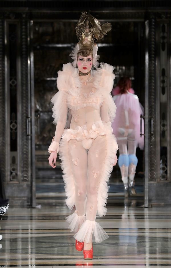 Pam Hogg's show in London was all sorts of frilly.