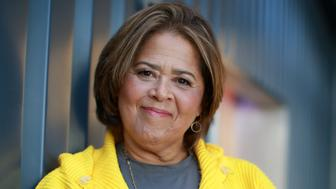 BOSTON - JULY 26: Playwright and actress Anna Deavere Smith poses for a portrait in Boston on July 26, 2016. Smith has a one-woman show 'Notes From the Field: Doing Time in Education,' which will run at the American Repertory Theater in Cambridge, Mass., from Aug. 20 - Sept. 17. (Photo by Jonathan Wiggs/The Boston Globe via Getty Images)