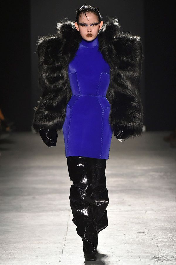 For his fall 2018 show in London, Gareth Pugh stuck to his structured style, giving new life to the concept of power dressing