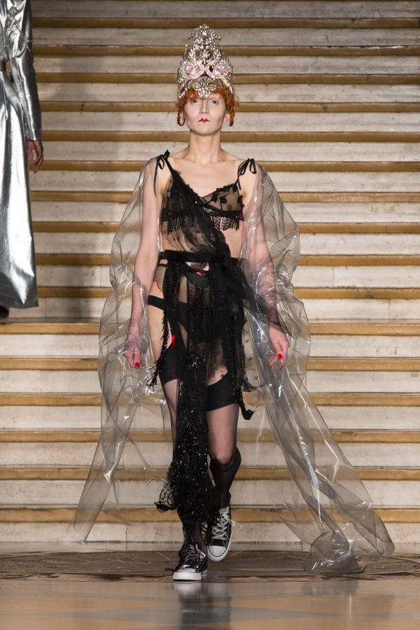 Dilara Findikoglu's latest collection (shown in London)mixed androgyny with romance, resulting in a show that was part