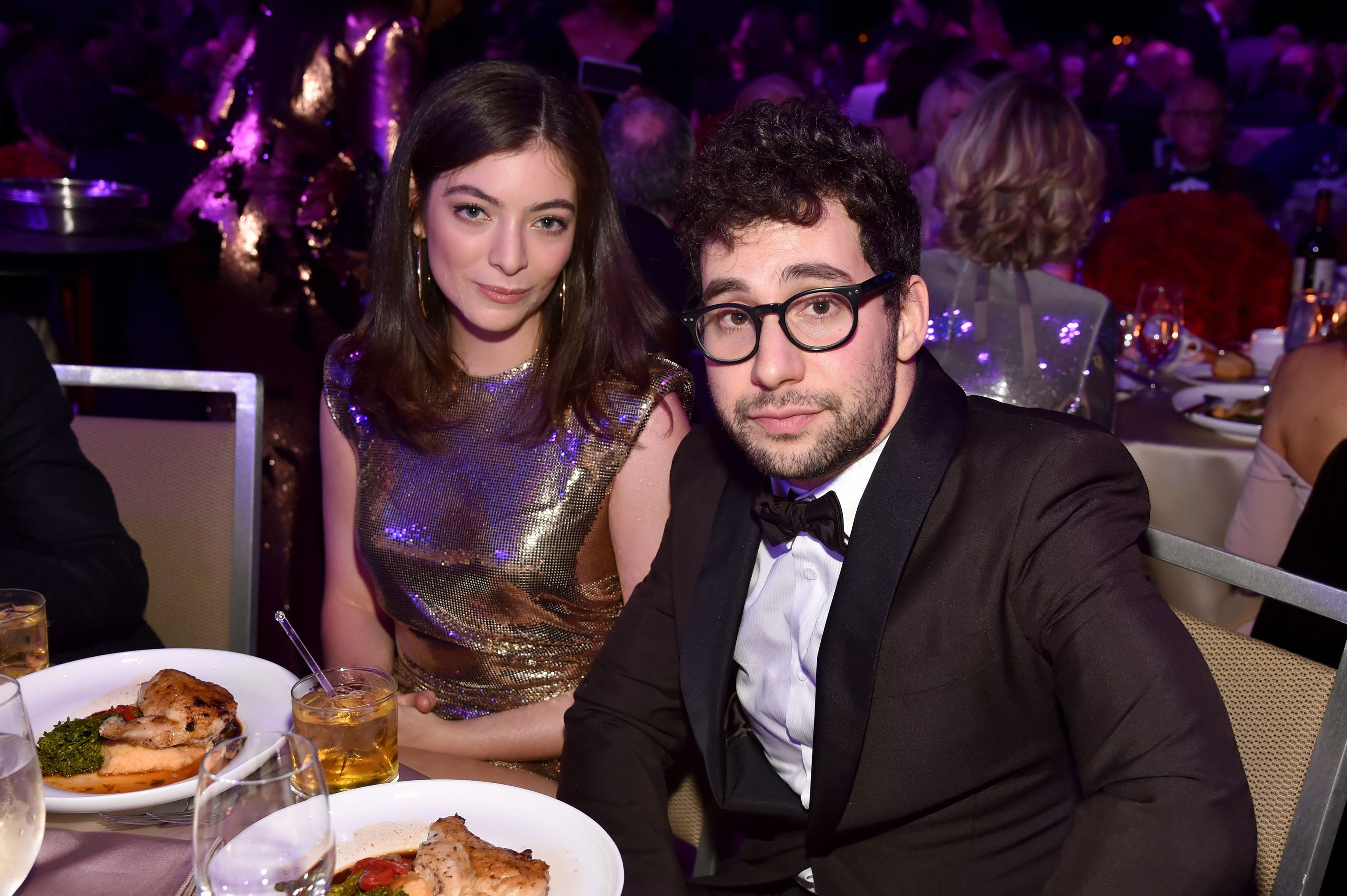 NEW YORK, NY - JANUARY 27:  Lorde and Jack Antonoff attend the Clive Davis and Recording Academy Pre-GRAMMY Gala and GRAMMY Salute to Industry Icons Honoring Jay-Z on January 27, 2018 in New York City.  (Photo by Kevin Mazur/Getty Images for NARAS)