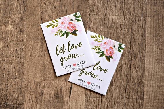 """Get a pack of 50 for $50<a href=""""https://www.etsy.com/listing/537717213/custom-seed-wedding-favors-50-count-with?ga_ord"""