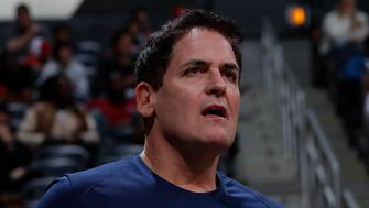 ATLANTA, GA - DECEMBER 23:  Mark Cuban, owner of the Dallas Mavericks, reacts during the game against the Atlanta Hawks at Philips Arena on December 23, 2017 in Atlanta, Georgia.  NOTE TO USER: User expressly acknowledges and agrees that, by downloading and or using this photograph, User is consenting to the terms and conditions of the Getty Images License Agreement.  (Photo by Kevin C. Cox/Getty Images)