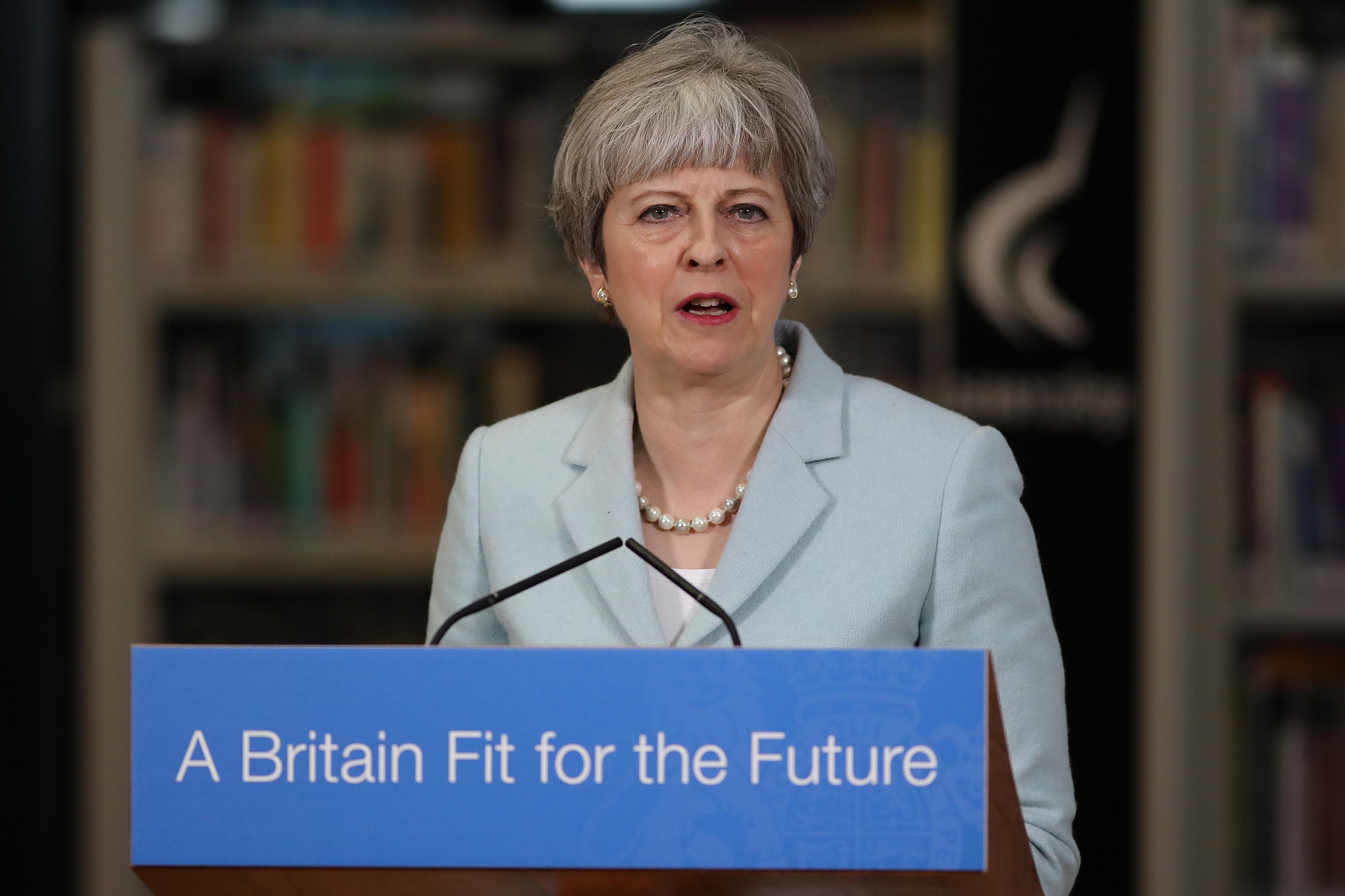 <strong>Theresa May.</strong>