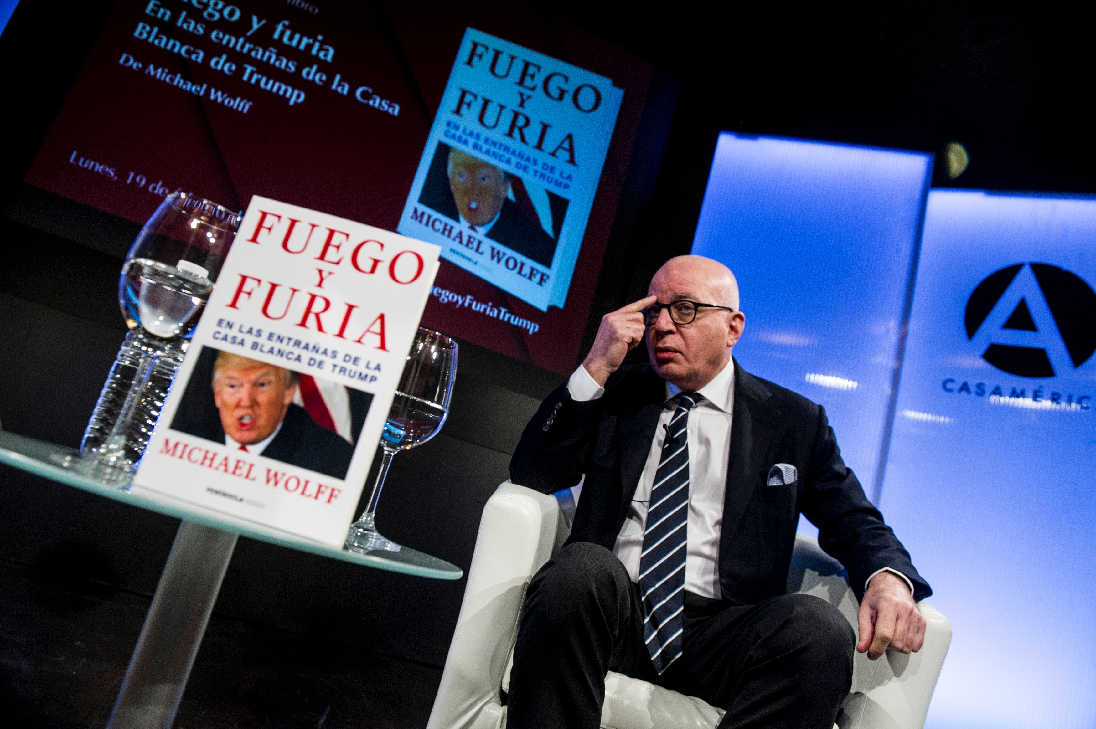 <strong>Wolff has been on a worldwide promotional book tour.</strong>