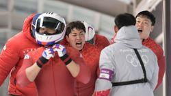 봅슬레이 4인승 대표팀이 은메달을