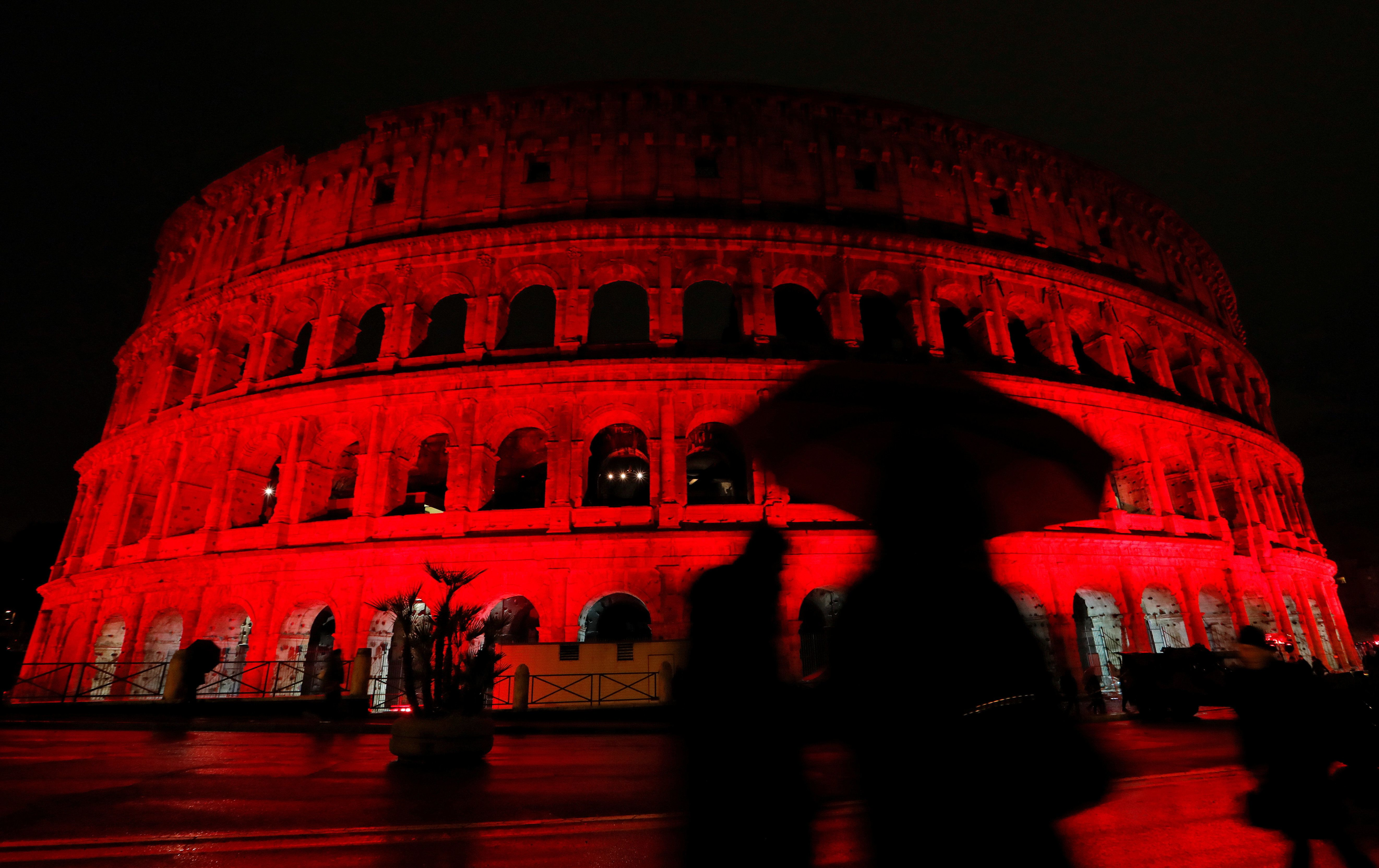 Colosseum In Rome Turns Red In Protest Of Pakistan's Blasphemy Law