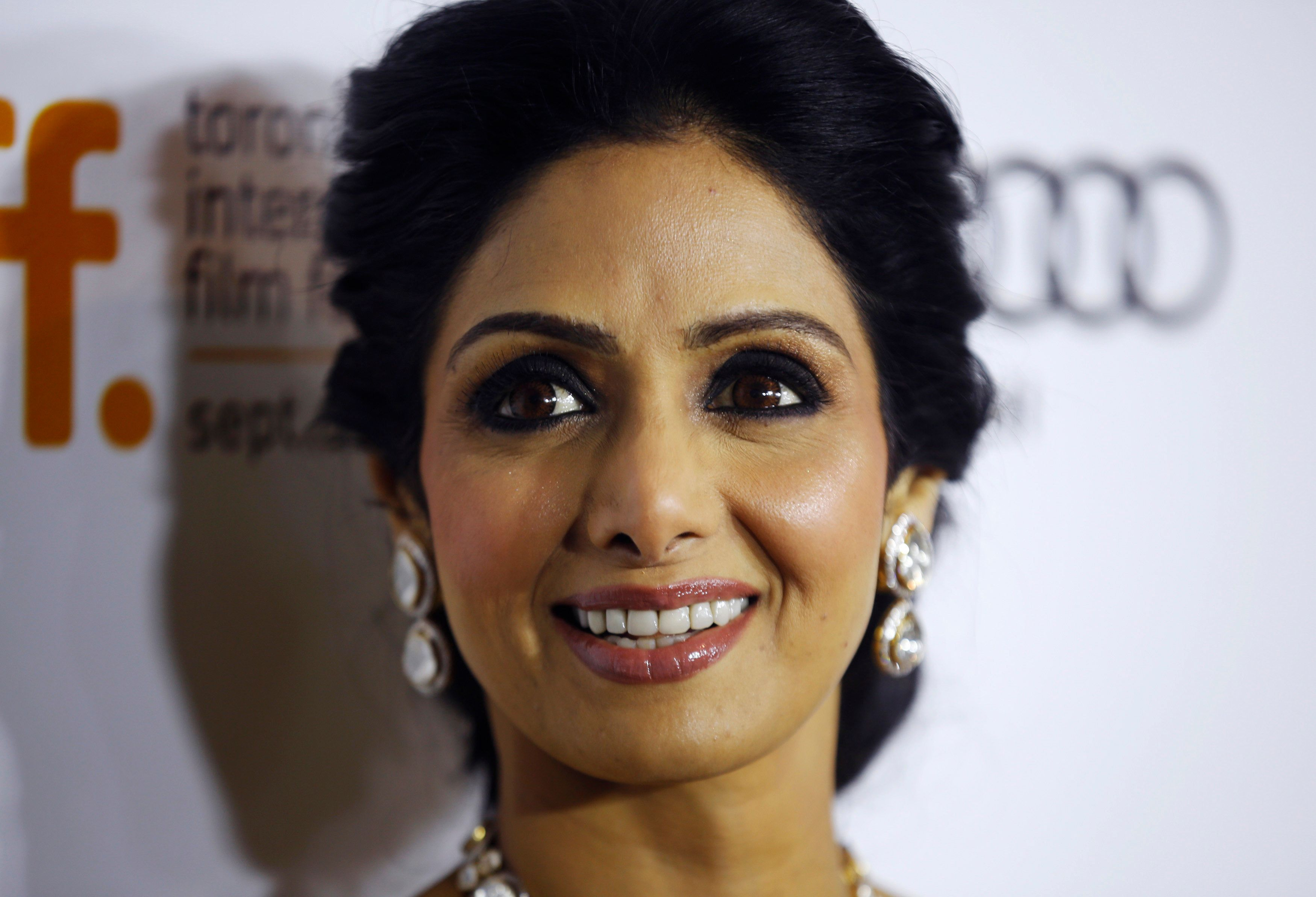 """Actress Sridevi Kapoor arrives for the gala presentation of """"English Vinglish"""" at the 37th Toronto International Film Festival, September 14, 2012. REUTERS/Mark Blinch (CANADA - Tags: ENTERTAINMENT)"""