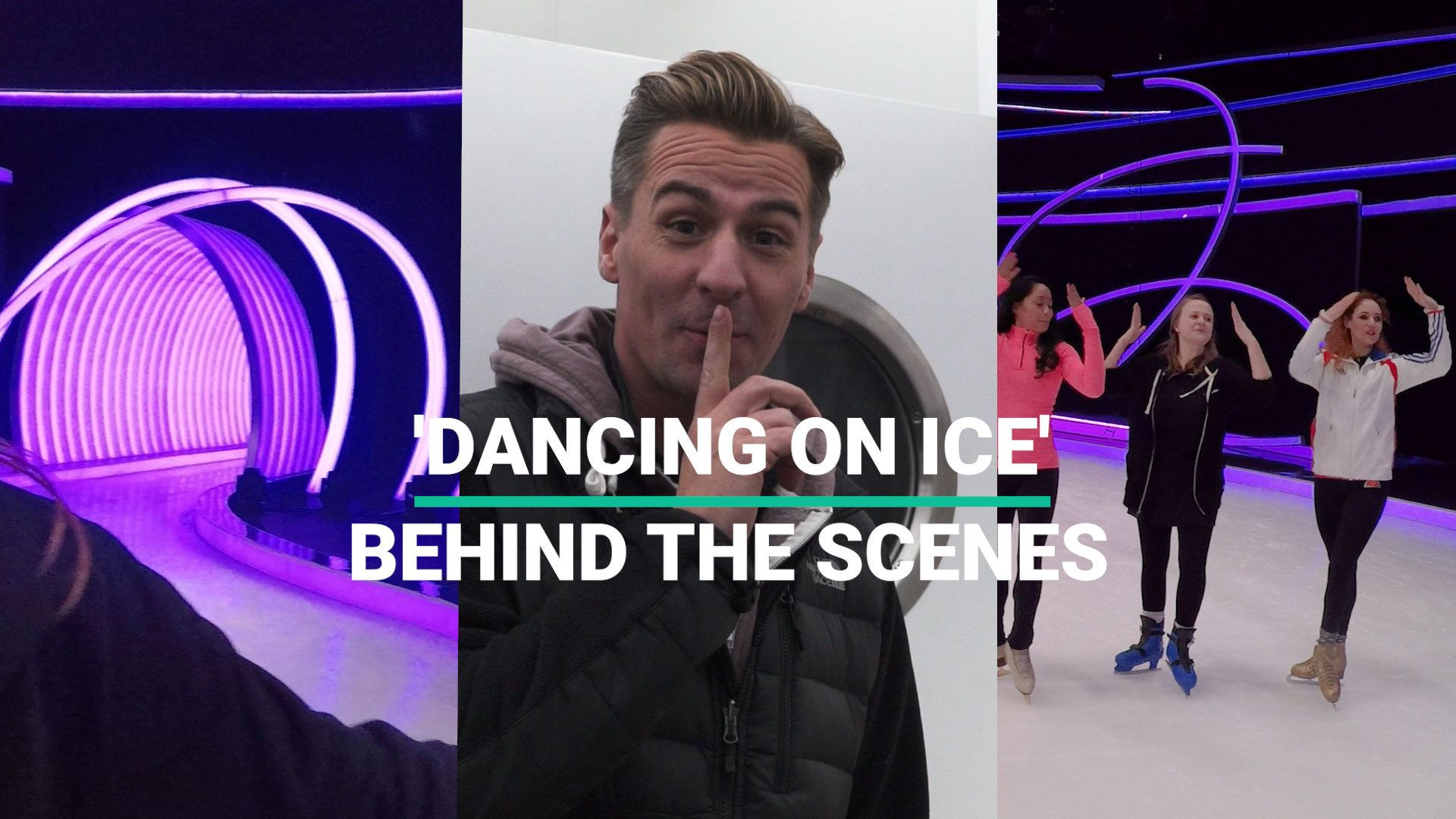 Here's What Happened When We Went Backstage On 'Dancing On Ice' (Skating Lesson