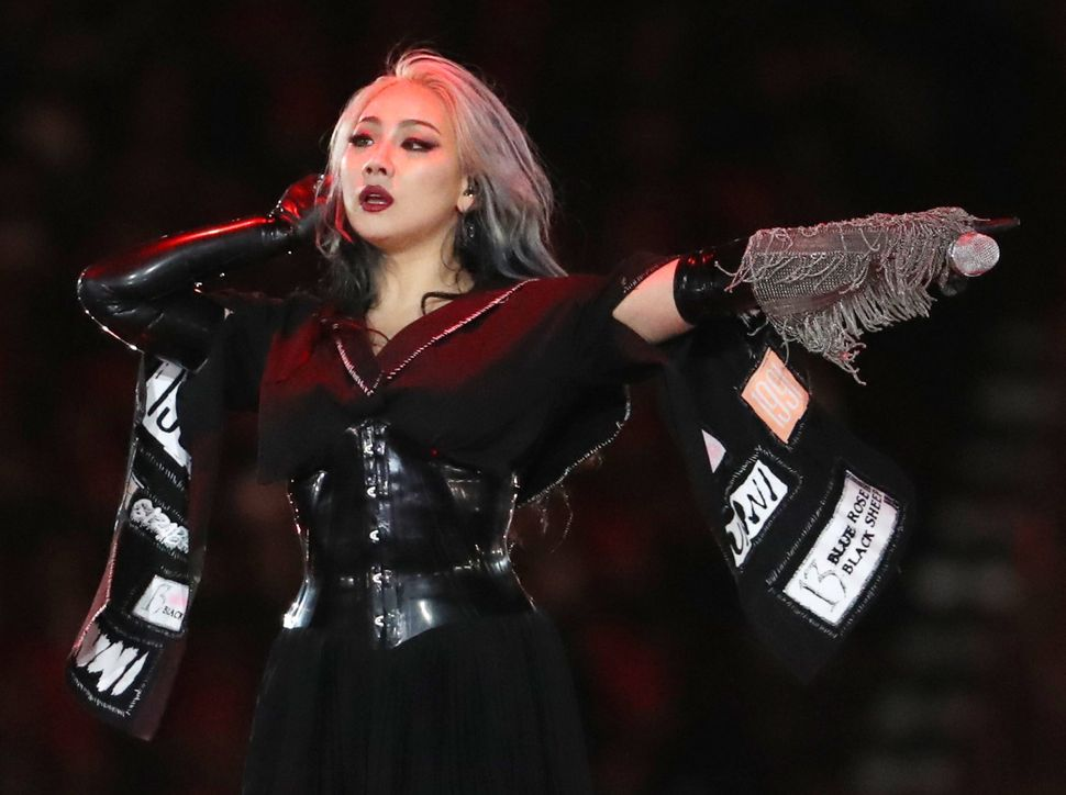 South Korean K-Pop singer CL performs.