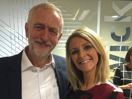 Jeremy Corbyn and Emilie Oldknow