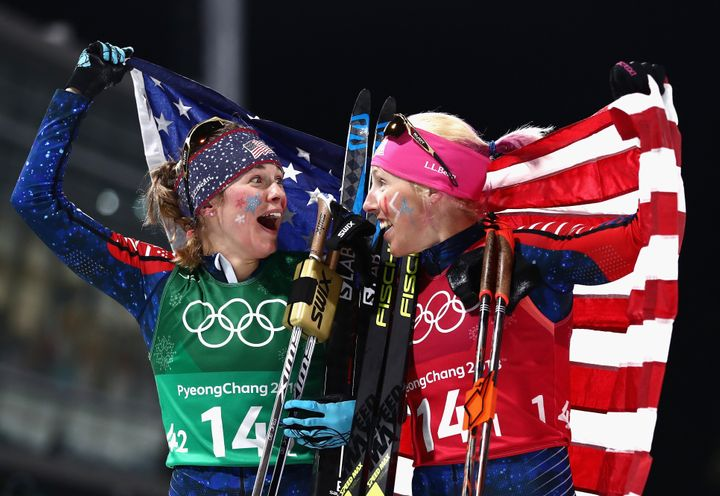 Kikkan Randall and Jessica Diggins were two of several women athletes to make history in Pyeongchang.