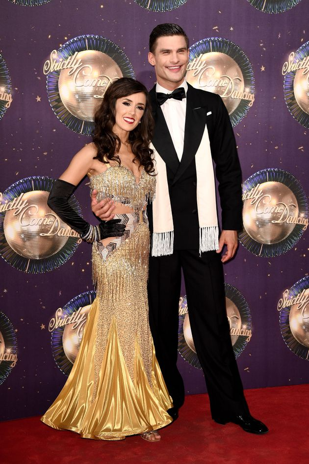 Janette andAljaž at last year's 'Strictly' red carpet