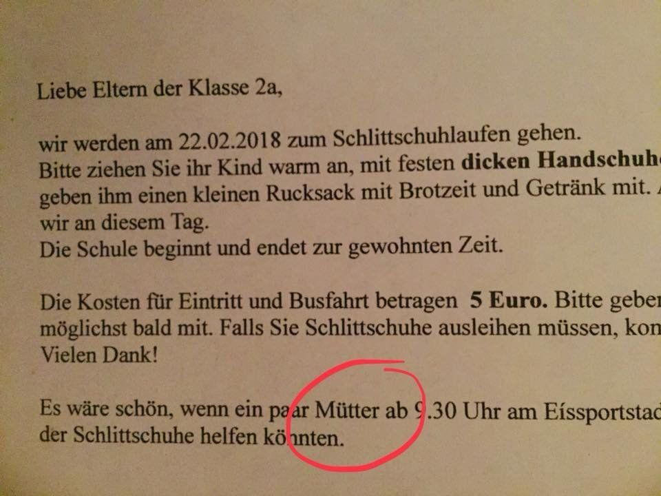 Was dieser Brief einer bayerischen Grundschule über unser Frauenbild sagt
