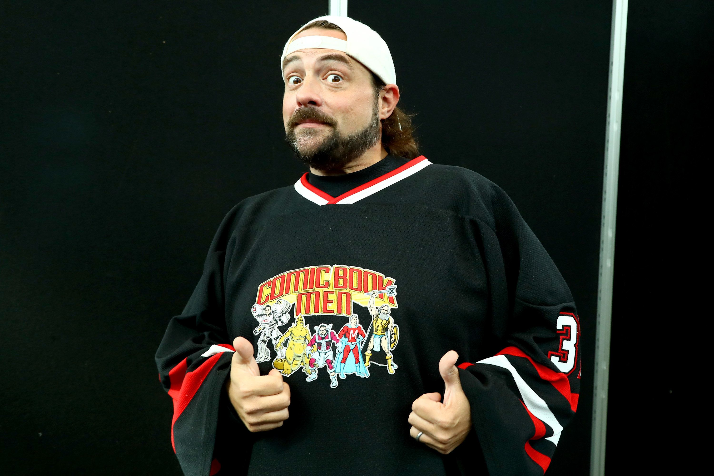 NEW YORK, NY - OCTOBER 05:  Director Kevin Smith attends 2017 New York Comic Con - Day 1 on October 5, 2017 in New York City.  (Photo by Astrid Stawiarz/Getty Images)