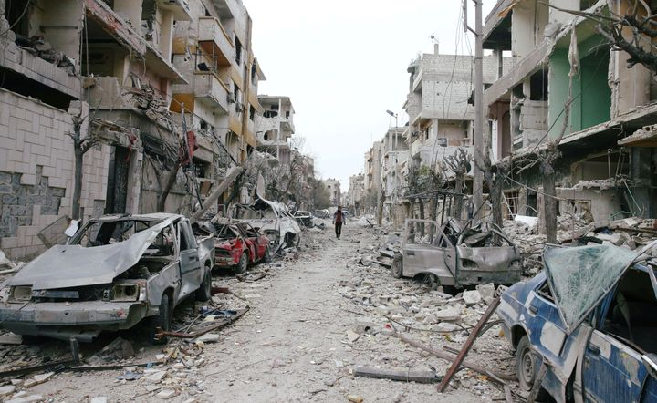 The bombardment of eastern Ghouta over the past week has been one of the heaviest of Syria's seven-year war, killing at